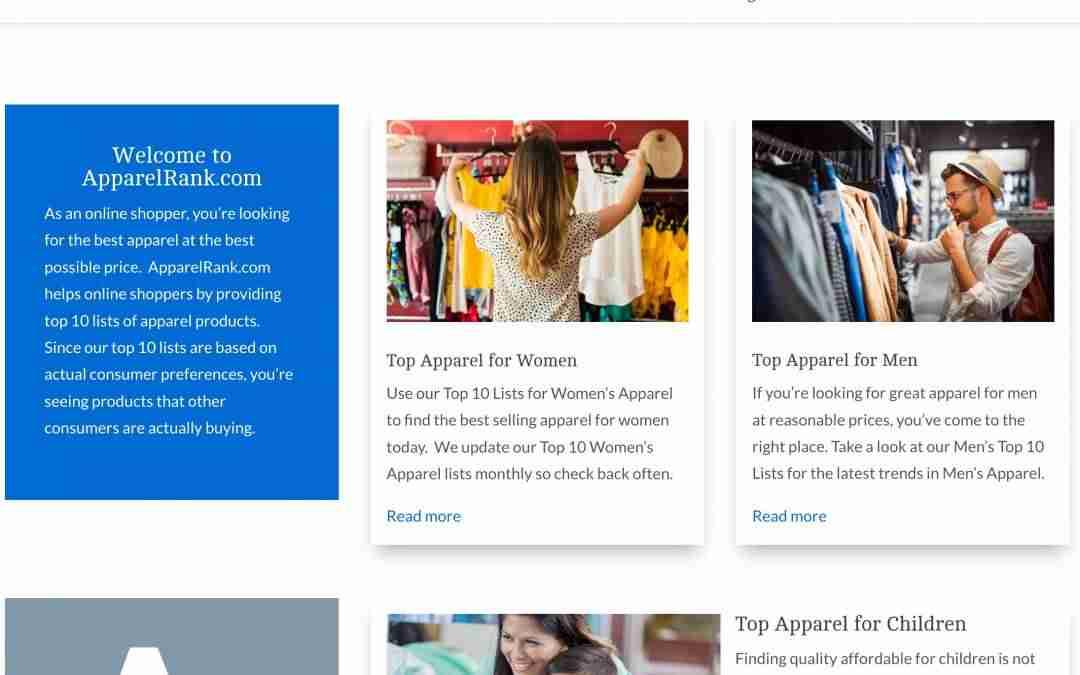 ApparelRank.com - Find Top Apparel