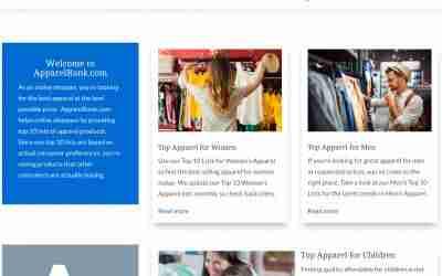 ApparelRank.com – Find Top Apparel