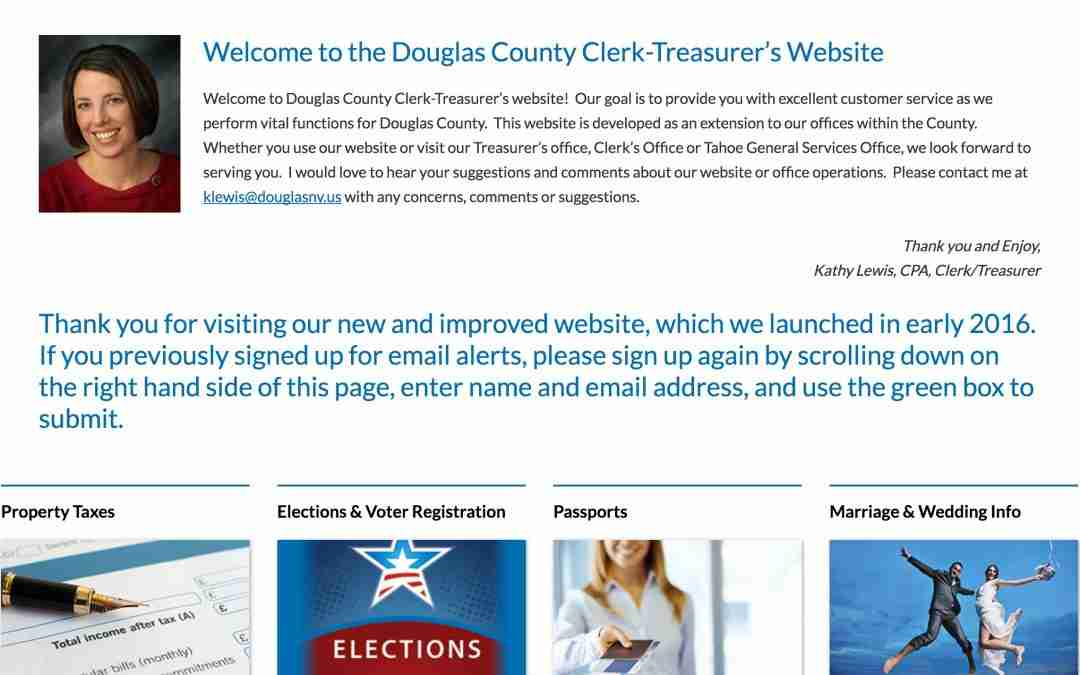 Douglas County Clerk-Treasurer Development Project