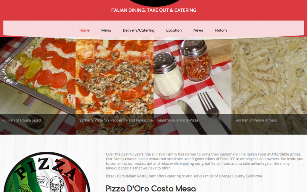 Pizza D'Oro has a new site!