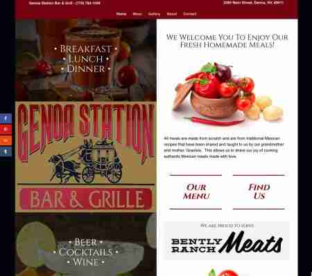 Genoa Station Bar & Grill Website by Internovations