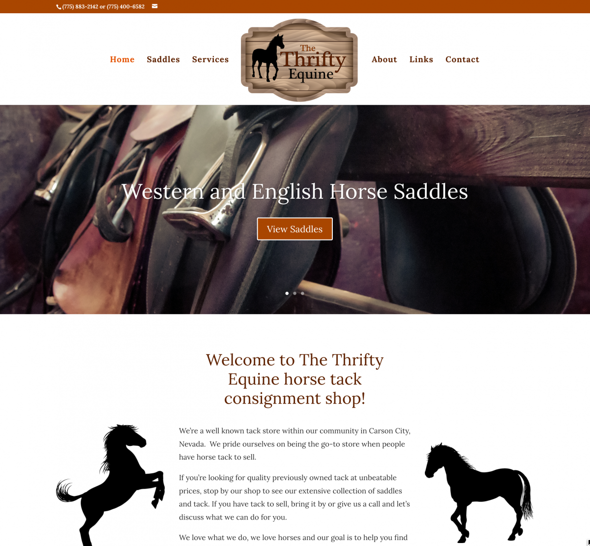 The Thrifty Equine horse tack consignment shop